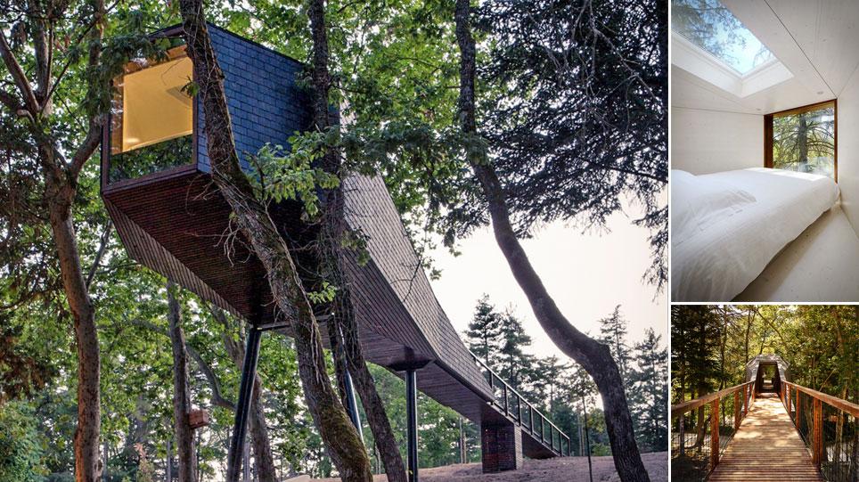 Zeanuri cabaas en los arboles excellent cabaas para for Hotel con casas colgadas de los arboles