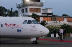 Presentación de Flysur en el aeropuerto de Córdoba.