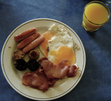 Irish breakfast.