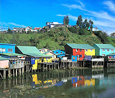 Los palafitos de Chiloé.