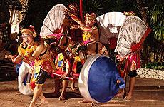 Típicas danzas balinesas.