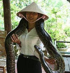 Gian, la experta en serpientes. / FLS