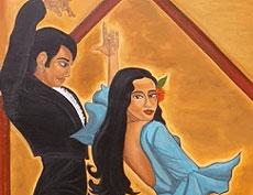 Cartel de una pareja flamenca.