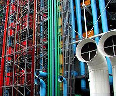Detalle del Centro Pompidou.