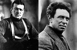 Ernest Shakleton y Frank Hurley.