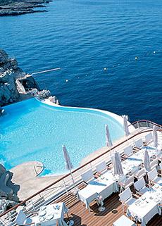 El Hotel Du Cap en la Costa Azul.