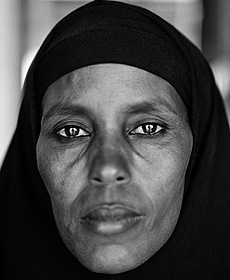 Rostro de Abshiro Aden Mohammed. / Fazal Sheikh