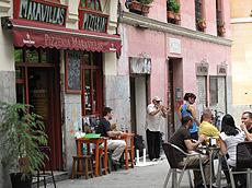 Una céntrica calle madrileña.
