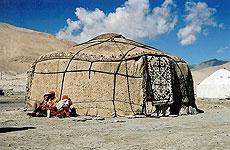 Yurta en el Karakum.