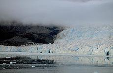 El glaciar, tras las correcciones.