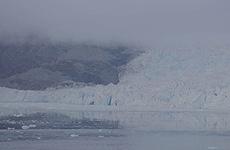 El glaciar tomado en automático.
