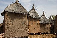Casas típicas del país dogón.