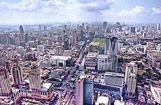 Panorámica de la ciudad de Bangkok.