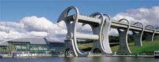 La noria hidráulica de Falkirk.