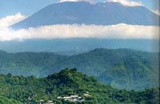 Vista del Monte Agung.