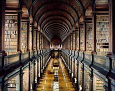 La Long Room del Trinity College.