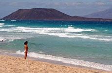 La playa de Corralejo.