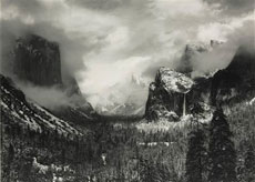 Clearing Winter Storm, Yosemite National Park, por Ansel Adams