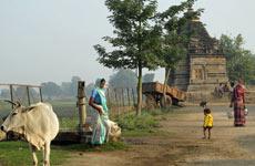 Escena rural en la India eterna.