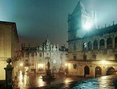 El casco viejo de Santiago.