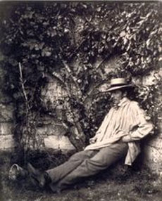 Adalbert Cuvelier (1812-1871) - Portrait d'homme dans un jardin, 1852